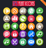 Desktop Flat Icons Set Royalty Free Stock Photo