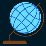 Desktop geographic globe flat icon Royalty Free Stock Photography