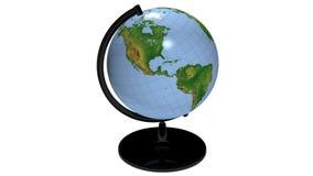 Desktop Globe Rotating Loop stock video
