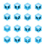 Desktop Icon Set Stock Images