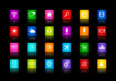 Desktop Icons collection Royalty Free Stock Photo