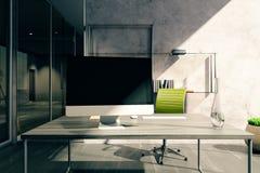 Desktop im Büro Lizenzfreies Stockbild