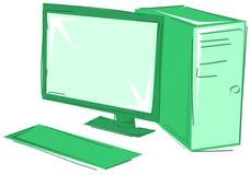 Desktop isolato stilizzato Immagini Stock