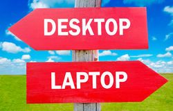 Desktop or laptop Stock Photos