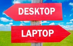 Desktop or laptop Stock Photos