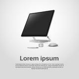 Desktop Logo Modern Computer Workstation Icon Imagens de Stock