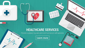 Desktop médico Imagens de Stock