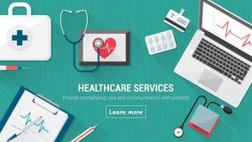 Desktop medico Immagini Stock