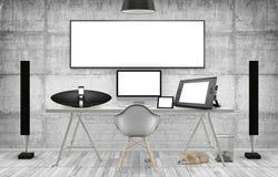 Desktop Mockup, 3D illustration Stock Images
