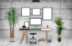 Desktop Mockup, 3D ilustracja Obraz Royalty Free