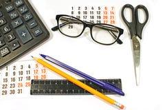Desktop no fundo branco Foto de Stock
