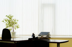 Desktop at office at a window Royalty Free Stock Photography