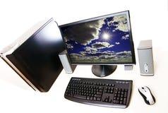 Desktop op witte achtergrond 02 Stock Foto's