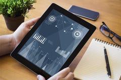 Desktop pastylki finanse Obraz Stock