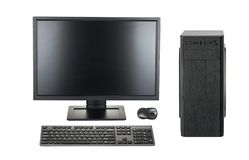 Free Desktop PC. Desktop Computer Isolated On A White Background Clipping Path Stock Photo - 141480540
