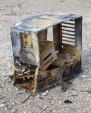 Desktop PC destroyed by fire. Stock Photography