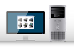 Desktop PC Royalty Free Stock Photography