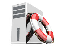 Desktop PC Life Belt Stock Image