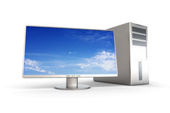Desktop PC System. A Desktop PC System. 3D rendered Illustration. Isolated on white Stock Image