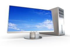 Desktop PC System. A Desktop PC System. 3D rendered Illustration Stock Photos