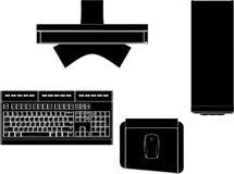 Desktop PC Vector 01. Desktop PC High Detail Isolated On White Illustration Vector Stock Photo