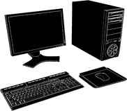 Desktop PC Vector 02. Desktop PC High Detail Isolated On White Illustration Vector Royalty Free Stock Images