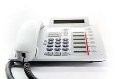 Desktop phone Stock Photo