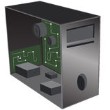 Desktop-Reparatur des Computer-3d Lizenzfreies Stockbild