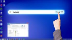 Desktop a schermo pieno blu Fotografie Stock Libere da Diritti