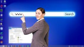 Desktop a schermo pieno blu Fotografia Stock