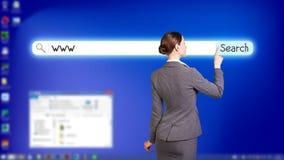 Desktop a schermo pieno blu Immagine Stock Libera da Diritti
