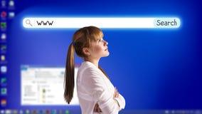 Desktop a schermo pieno blu Immagini Stock Libere da Diritti