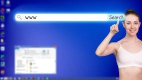 Desktop a schermo pieno blu Immagini Stock