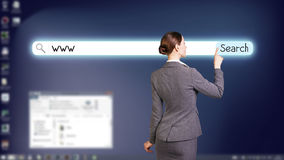 Desktop a schermo pieno blu scuro Fotografia Stock