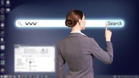 Desktop a schermo pieno blu scuro Immagine Stock
