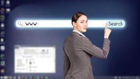 Desktop a schermo pieno blu scuro Fotografia Stock Libera da Diritti