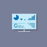 Desktop screen icon flat design vector Stock Photos