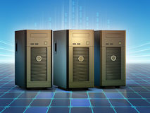 Desktop servers Royalty Free Stock Images