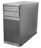 Desktop serwer na bielu Obraz Stock