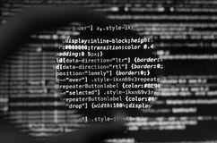 Desktop source code and Wallpaper by Computer language with codi. Desktop source code and technology background, Developer or programer with coding and stock image