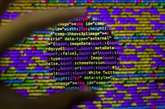 Desktop source code and Wallpaper by Computer language with codi. Desktop source code and technology background, Developer or programer with coding and royalty free stock photo