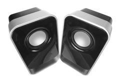 Desktop Speakers. On White Background royalty free stock photo
