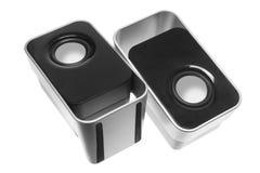 Desktop Speakers. On White Background stock photo