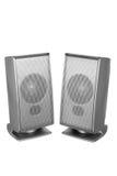 Desktop Speakers. On White Background royalty free stock photos