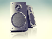 Desktop Stereo Loudspeakers Pair Royalty Free Stock Images