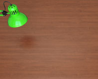 Desktop surface and lamp Stock Images