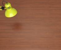 Desktop surface and lamp Stock Photos