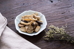 On the desktop, tableware and food. Indoor shooting royalty free stock photography