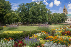 Desktop theme is real. Park in front of St Peter and Pavao church Royalty Free Stock Image