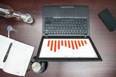 Desktop widok w biurze Zdjęcia Stock